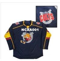 Real 668 Bordados Real Completo Personalizar Personalizar Barrie Colts Hockey Jersey ou Personalizado Qualquer nome ou Número Hóquei Jersey