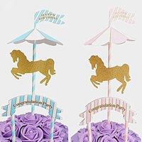 Флаги полнолуние вставки карты на день рождения свадьбы декор детские дети дети романтические прекрасные подарки партии украшения торта
