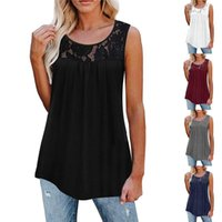 Women's T-Shirt Women Sexy T Shirt Summer Top Pleated Casual Drawstring T-Shirts Solid Color O Neck Tank Vest Sleeveless Breathable