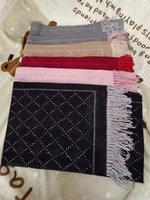 2021 Luxus Winter Kaschmirschal Pashmina für Frauen Marke Designer Warme Mode Imitieren Wolle Lange Schal Wrap Größe 180 * 60cm