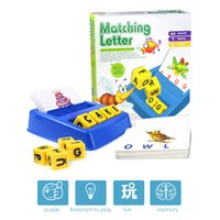 Geletterdheid Fun Game Family Fun Matching Letter Game Learning Toys English Word ABC Puzzel Educatief speelgoed voor kinderen Kids Gift H1009