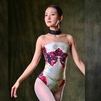 Fairy Ballet Dance Trikots für Frauen Sexy Backless Bodysuit Yoga Balletttanz Praxis Gymnastik Show Bühnenkostüm Vdb2806