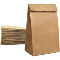 Cestas colgantes 100 unids Bolsas de papel Kraft Té Pequeño Bolsa de regalo Sandwich Pan Fiesta de Boda Suministros de Boda Envolviendo Takeout Eco-Friendly BA