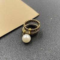 Золотая буква кольца кольца Bague для леди женщины вечеринка свадебные влюбленные подарок обручальные украшения