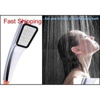 Banyo Duş Başlığı 30% Su Tasarrufu Basınç Boost Yağış 300 Delik Banyo Aksesuarları Krom ABS Electropl Qylsvl Homes2007