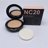 M Face Makeup NC 12 컬러 프레스 분말 퍼프 파운데이션 15g 매트 천연 페이셜 파우더