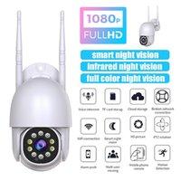 1080P 와이파이 IP 카메라 야외 2MP 반구형 카메라 AI 인간 추적 탐지 홈 보안 폐쇄 회로 텔레비전