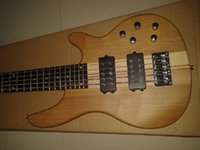 New Arrival Nature Wood Matte Paint One Piece Maple Neck through Body 9V Active Pickup W 5 String Electric Bass Guitar