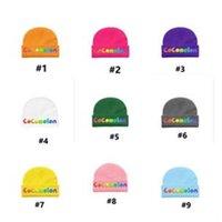 EUA Cartoon Cocomelon Chapéu Crianças Meninos Meninas Designers Cuffed Beanie Cap Sólido Tuque Tuque Letras Imprimir Crânio Cap Headwear