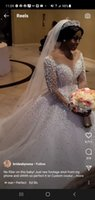 2021 Arabic Sheer Long Sleeves Lace Wedding Dresses sheer Tulle Major Beaded Country Bridal Wedding Gowns