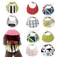 Abbigliamento per cani Cute Pet Moda Colorato Colorato Cappello da baseball Cappello da baseball antivento Viaggio Sport Sole Cappelli per cucciolo di grandi accessori triangolo all'aperto