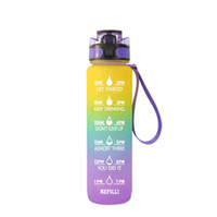 1000 ml Bottiglia d'acqua all'aperto con bottiglie di sport di paglia Escursionismo Camping Bive di Plastica Bottiglia BPA Bottiglie in plastica portatile colorate gratuite BPA