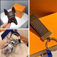 Дизайнеры брелок ключей цепь цепь цепь руки украшения собака брелок роскоши дизайнер брелок сублимационные пробелы бульдог клавиш аксессуары