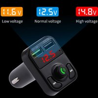 Bluetooth 5.0 Handsfree Car FM Transmitter Wireless Audio Receiver Auto MP3 Player Dual USB Fast Charger X3
