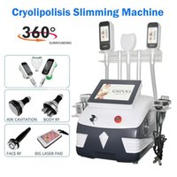 새로운 Cryolipolysis 지방 동결 슬리밍 기계 다기능 초음파 지방 캐비테이션 무선 주파수 피부 강화 장비