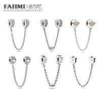 2020 Fahmi 100٪ 925 الفضة الاسترليني 1: 1 سحر القلب تاج سلسلة سلامة متعدد الألوان أقواس الحب السلامة ساحر سلامة البرز