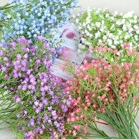 Gypsophila 90heads 52cm bebês Bebês Flores Artificiais Plástico Gypsophila DIY Floral Buquês Arranjo para Casamento Home GWD5448