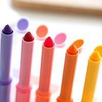 Highlighters 30 pcs / lot mini rouge à lèvres surligneur Couleur de panne-stylo Ensemble de bonbons Gel Gel Fluorescent Papetery Office School Fournitures