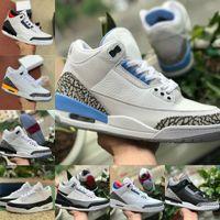 Air Jordan 3 Shoes retro jordans Nike Nuovo frammento arancione laser 3s 3 Mens Scarpe da basket Knicks Rivals JSP Tinker SP Nero NRG Cemento Donness