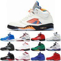 2021 jumpman mais novo 5 5s homens sapatos de basquete bluebird Raging Bull Quai 54 Anthracite Fogo Vermelho Suede Preto Pro Estrela Oreo Homens Treinadores Sports Sneakers Tamanho 7-13