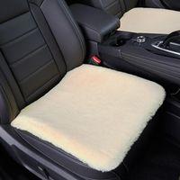 Car Seat Covers 3pcs Winter Cushion Plush Hair Cover Non Slide Non-shedding Protector Mat Warm Accessorie