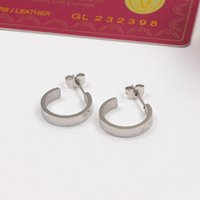 2021 Top quality never fade Titanium steel green red love letter hoop Earring deluxe Women Charm Earrings Fashion Jewelry wholesale