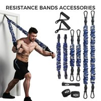 Accessories INNSTAR Resistance Bands Elastic Band Fitness Handle Foot Strap Gym Full Body Workout Bench Press Exercise Equipment