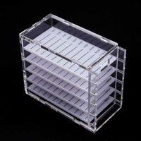 False Eyelashes 5 Layers Grafting Transparent Box Eyelash Storage Glue Pallet Holder Makeup Display Container Dropship