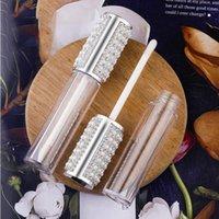 5 ml Elmas Boş Yuvarlak Boru Temizle Plastik Dudak Parlatıcısı Şişeler