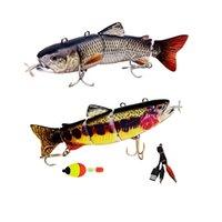 5.12inch / 5.3inch Pêche électrique Lure USB Charge Charge Bait 4Section Swimboit Crankbait Pesca Tackle Fish Vivid 210630