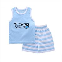 Summer Children Clothing Sleeveless Tops Pants 2pcs Set Toddler Baby Clothes Girls Boutique Outfits Suit Kids Boys