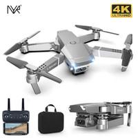 NYR 2021 E68PRO Мини Дрон HD 4K 1080P WiFi FPV Камера Дроны Высота Удержание Режим RC Складной Quadcopter Dron Мальчик Игрушечный Подарок E58 / E68