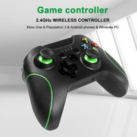 Sin controlador de juegos inalámbrico Bluetooth 2.4G para Xbox One Controller para PS3 / Android Smart Phone Six Botones analógicos Gamepad