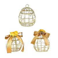 Hollow Bird Cage Wedding Party Pudełko Cly Candy Chocolate Box Deluxe