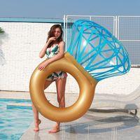 Chaleco salvavidas Boya Diamond Inflatable Natación Círculo Piscina Point Anillo de flotador para mujeres adultas Po Props Toys Beach Party