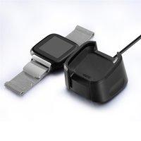 fitbit도 대 2 smartwatch usb 자기 충전기 케이블 도크 스탠드 빠른 충전 케이블 와이어 충전기 크래들
