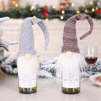 Christmas Red Wine Bottle Cover Decoration Nordic Santa Claus Champagne Set Hotel Restaurant Christmas Decorations w-00925