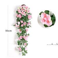 Fiore artificiale Rattan Flower Flower Flower Decoration Decorazione Parete appeso Rose Decor Decor Accessori Matrimonio Fiori decorativi Corona di fiori EWE5046