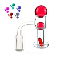 Terp Slurpers Blender Smoking Quartz Banger 10mm 14mm 18mm 20mm OD Nails For dab oil rig Bongs With Pill Glass Marble Ruby Pearls