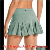 Falda de tenis Lu Yoga Running Sports Falda Golf Mid-cintura Plaqueada Falda de espalda Polleo con cremallera Paño Gimnasio Jlllega Sport77777