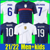 # 19 Benzama Soccer Jerseys Pogba Grizmann # 10 Mbappe Footble Shirts Dembele Varane Kante Giroud Jersey Coman Pavard Ben Yedder National Team Unifroms Men Kids Kit