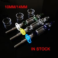Sıcak Mini Nector Toplayıcı Kiti 10mm 14mm Koleksiyonerler DAB Nargile Saman Oil Kulesi Mikro NC Set Cam Su Borular Titanyum İpucu NC18