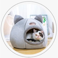 Cat Beds & Furniture Deep Sleep Comfort In Winter Bed Little Mat Basket For Cat's House Products Pets Tent Cozy Cave Indoor