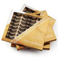 16 Pairs Dramatic 3d Lashes Natural False Eyelashes Thick Soft Mink Eyelash Makeup Fake Lash Reusable Cilios