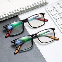 Sonnenbrille Vcka Männer Anti-Blue Lichtharz Myopie Brille Frauen Metall Quadrat Frühling Scharnierrahmen Hyperopia Brillen -1,5 bis -4,0 Dioptrien