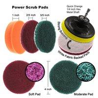 22 teile / satz Elektrobohrer Pinsel Peeling Pads Kit Leistungswäsche Reinigung Kit Reinigungsbürste Schneidekissen für Teppichglas Auto Sauber RRD7280