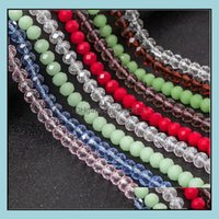 Jewelrym Glass Loose Beads Round Wheel Flat Bead Style Approx 140Pcs Per String Model No. Ne1154 Drop Delivery 2021 Roxr8