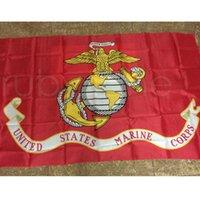 50 stücke 90x150cm USA Marine Corps Flaggen Vereinigte Staaten von Amerika USA US Army USMC Marine Corps Flagge 3x5FTs RRA4200