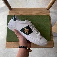Top Qualité Nouvelle Bee Blanc Casual Chaussures Tiger Imprimer Hommes Femmes Fondes Red Fond Real Cuir Sneakers avec boîte verte