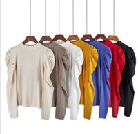 Women's Knitted Sweater Casual Top Blouse Bottom Shirt